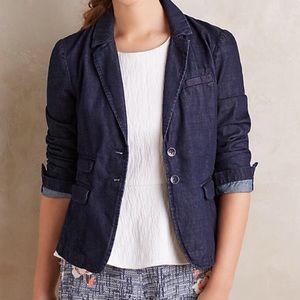 Anthropologie Pilcro Denim Blazer Jacket Large